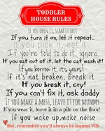 Toddler's House rules