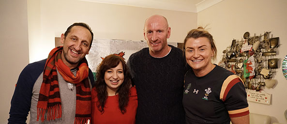Brogan Evans with Rachel Taylor, Rupert Moon and Gareth Thomas