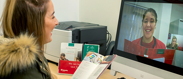 Customer using Principality's new mortgage video service