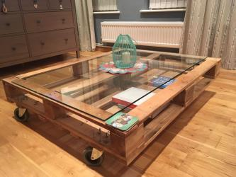 Coffee table made out of palletts