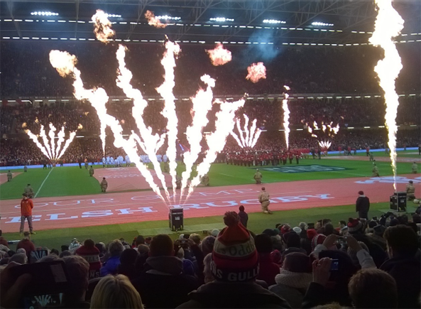 Principality Stadium fire display