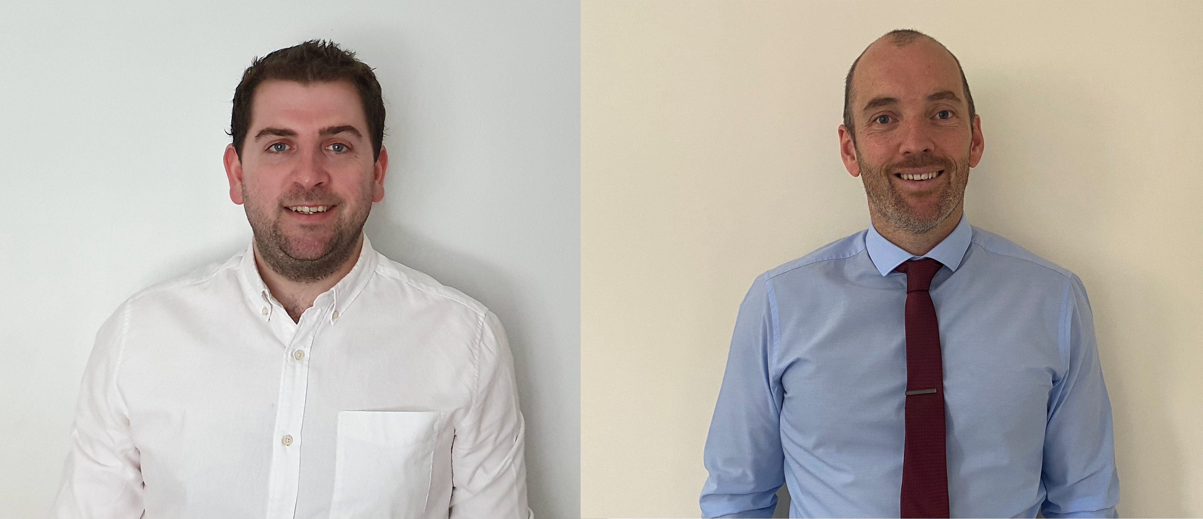 From left to right - Chris Jeacott, Business Development Manager, London and South East and Jon Parry, Business Development Manager, South and West Wales