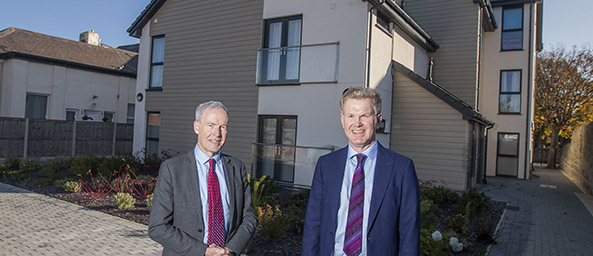 Image showing Peter Hughes, Managing Director of Principality Commercial with Bryn Ellis, Business Services Director, Grwp Cynefin at the Brighton Road development