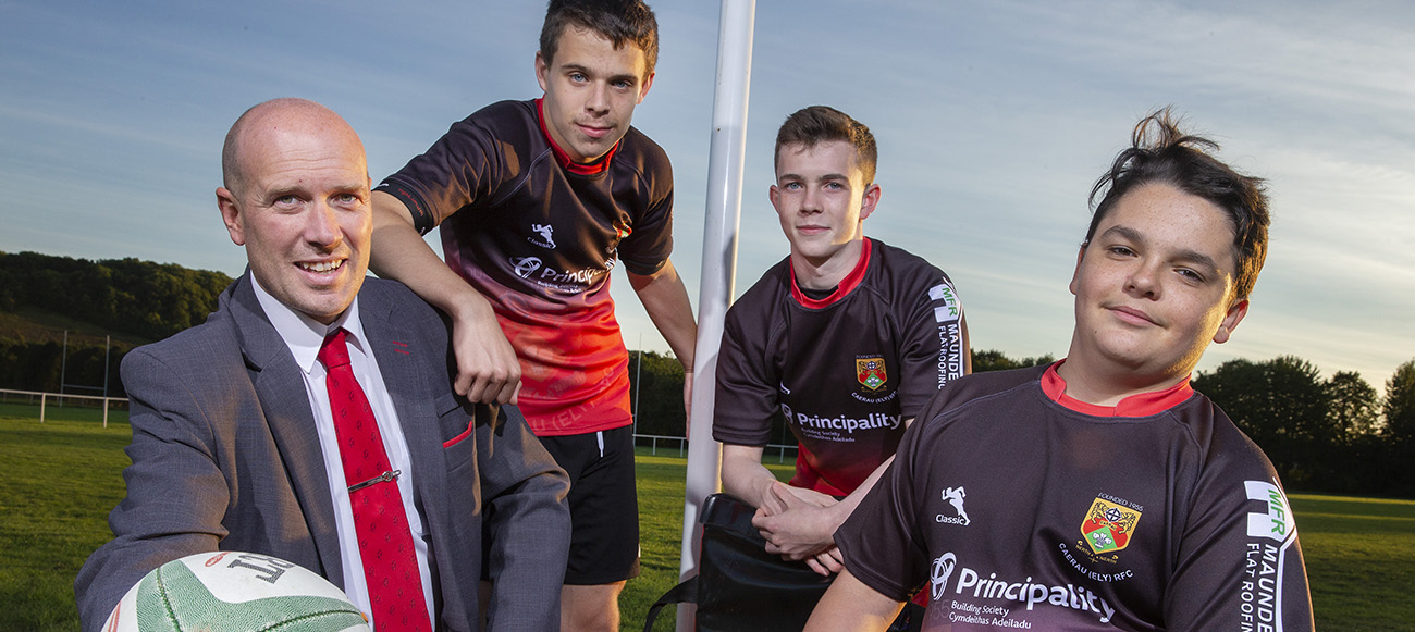 Principality sponsored kits for budding rugby team