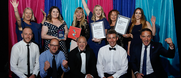 Colleagues from Principality are delighted to receive Business in the Community's Volunteering Impact award