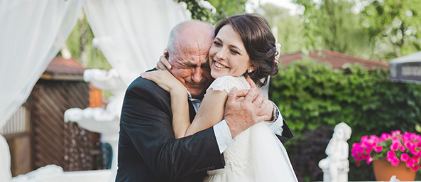 Image showing a father celebrating his daughter's wedding