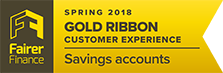 Fairer Finance - Gold ribbon - Savings accounts