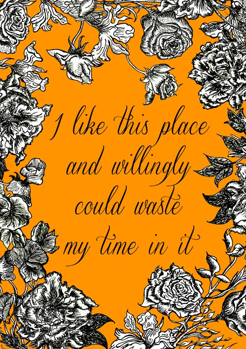 I like this place and willingly could waste my time in it by Merlin Evans