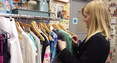 Jenni Hill Shopping in a Charity shop